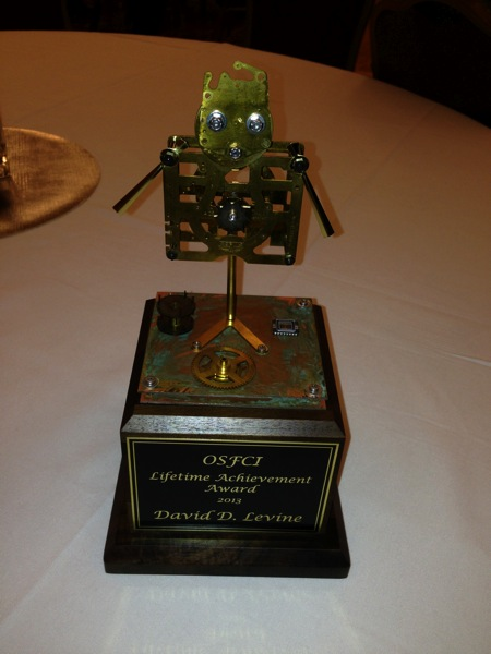 OSFCI Life Achievement Award trophy